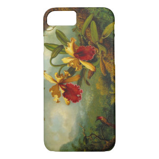 Orchids and Hummingbird 1875 iPhone 8/7 Case