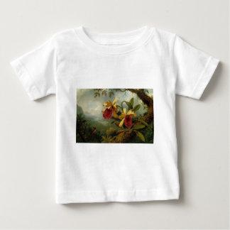 Orchids and Hummingbird by Martin Johnson Heade Baby T-Shirt