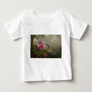 Orchids and Hummingbirds by Martin Johnson Heade Baby T-Shirt