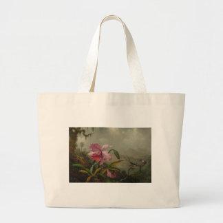 Orchids and Hummingbirds by Martin Johnson Heade Jumbo Tote Bag