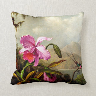 Orchids and Hummingbirds near a Mountain Lake Cushion