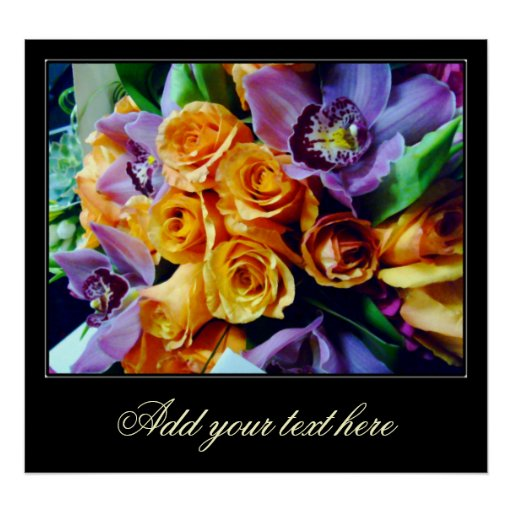 Orchids and Roses_Poster Poster