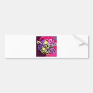Orchids bouquet with tennis balls bumper sticker