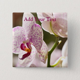 Orchids by Shirley Taylor 15 Cm Square Badge