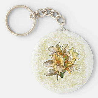Orchids etched keychain
