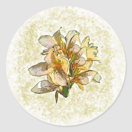 Orchids etched sticker