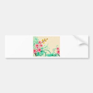 orchids grunge floral 3 bumper sticker