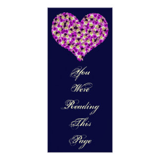 Orchids Heart Bookmark Template Personalized Rack Card
