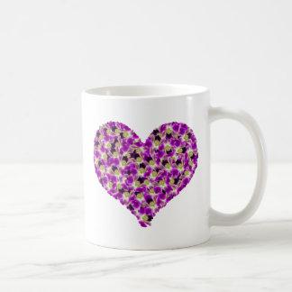 Orchids Heart Mug