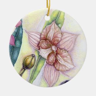 Orchids (ii) round ceramic decoration