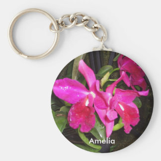 Orchids Name Keychain