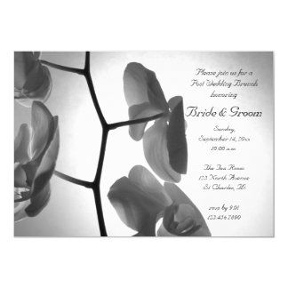 Orchids on the Stem Post Wedding Brunch Invitation