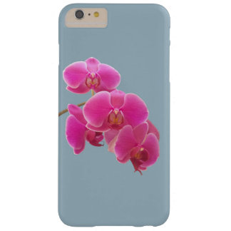 Orchids Photo to Paint on Blue Barely There iPhone 6 Plus Case