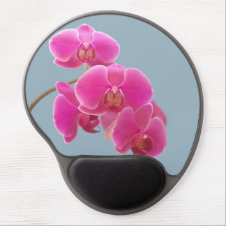 Orchids Photo to Paint on Blue Gel Mouse Pad