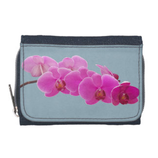 Orchids Photo to Paint on Blue II Wallet