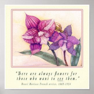 Orchids (Q/Matisse) Print