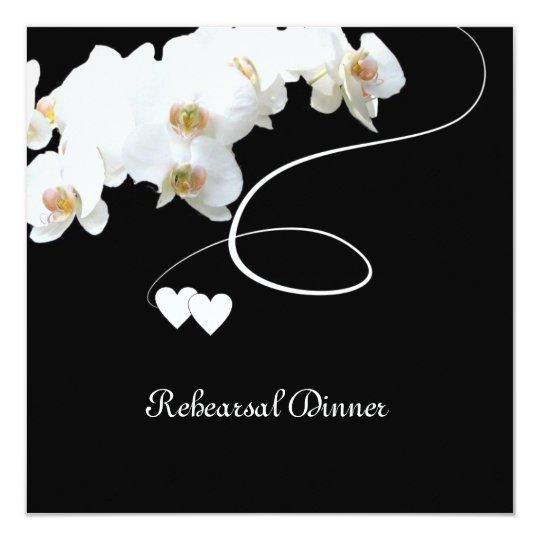 Orchids & Swirls Rehearsal Dinner Invitation