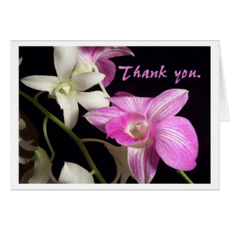 Orchids Thank You Card