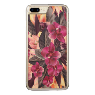 Orchids. Tropical design with beautiful flowers an Carved iPhone 8 Plus/7 Plus Case