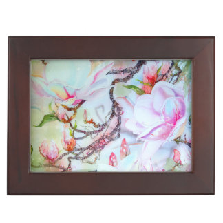 Orchids Watercolor White Pink Lavender Floral Memory Boxes