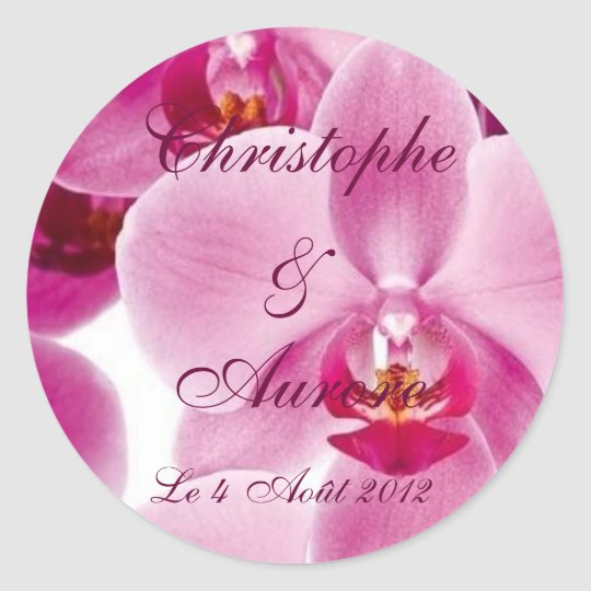 Orchis Classic Round Sticker