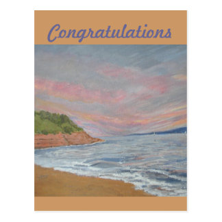 Orcombe Point Exmouth Congratulations card Postcard