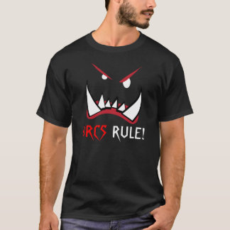 Orcs rule, black orc, fantasy t-shirt
