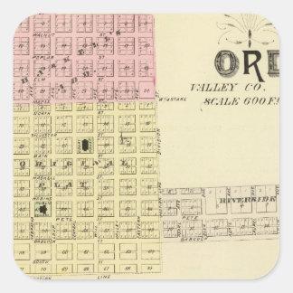 Ord and Buffalo, Nebraska Square Sticker