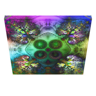 Order at the Root of All Chaos V4 Wrapped Canvas