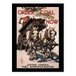 Order Coal Now World War II Postcard