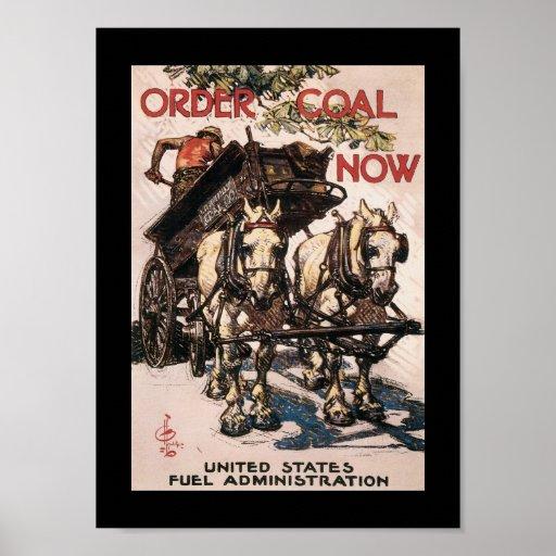 Order Coal Now World War II Poster
