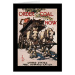 Order Coal Now World War II Stationery Note Card