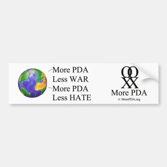 "Order ""More PDA Bumper Stickers"" here... Bumper Sticker"