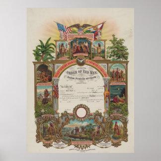 Order of Red Men [1889] Poster