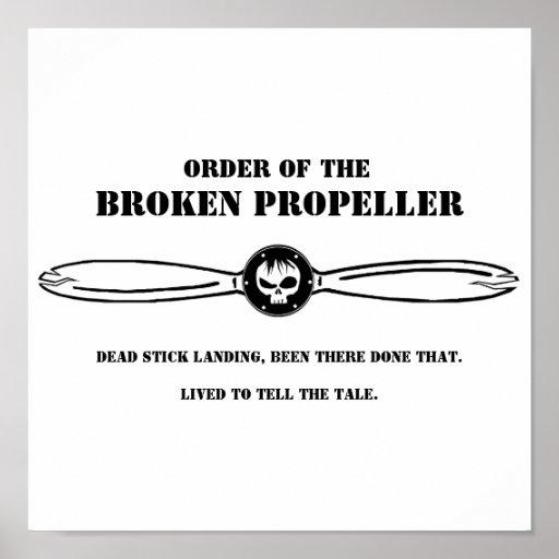 Order of the Broken Propeller Poster