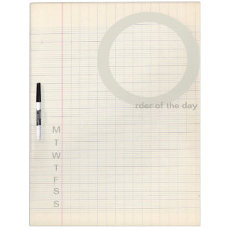 Order of The Day Weekly Dry Erase Board - Vintage