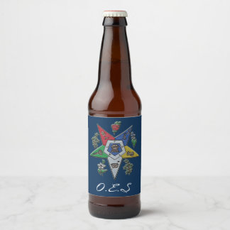 Order Of The Eastern Star Beer Bottle Label