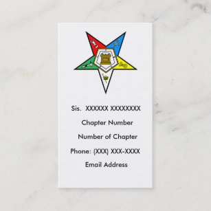 Order of the eastern star gifts gift ideas zazzle uk order of the eastern star business card reheart Images