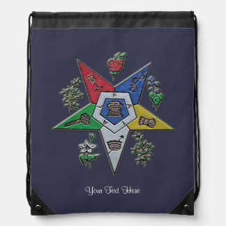 Order Of The Eastern Star Drawstring Bag