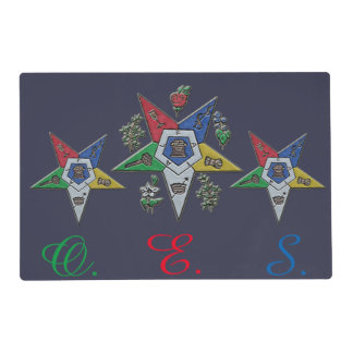 Order Of The Eastern Star Laminated Placemat
