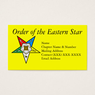 Order of the Eastern Star Yellow