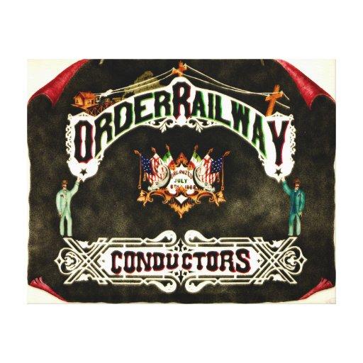 Order Railway Conductors Emblem 1889 Canvas Prints