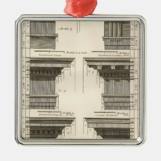 Orders of Architecture, Vintage Entablatures Christmas Ornament
