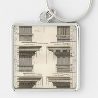 Orders of Architecture, Vintage Entablatures Key Ring
