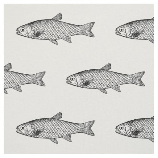 Ordinary Fish, colour background choice Fabric