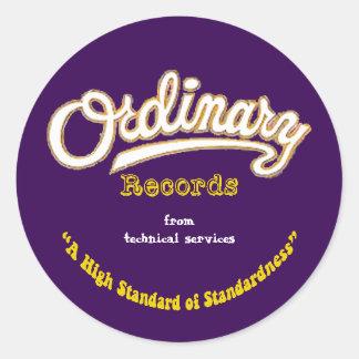 Ordinary Records Sticker (Yellow)