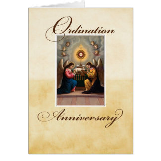 Ordination Anniversary Angels at Altar Card