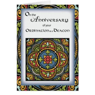 Ordination Anniversary to Deacon Cross in Colors Card