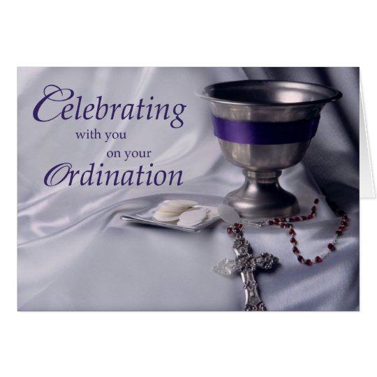 Ordination, Congratulations Chalice, Rosary Card