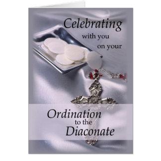 Ordination Congratulations Diaconate, Deacon Hosts Card